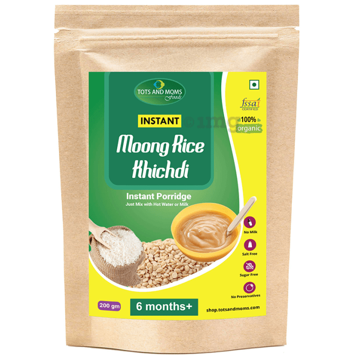 Tots and Moms Instant Moongdal Rice Khichdi Mix