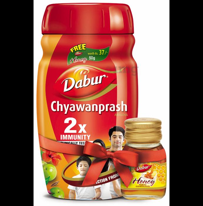 Dabur Chyawanprash Awaleha with Honey 50g Free
