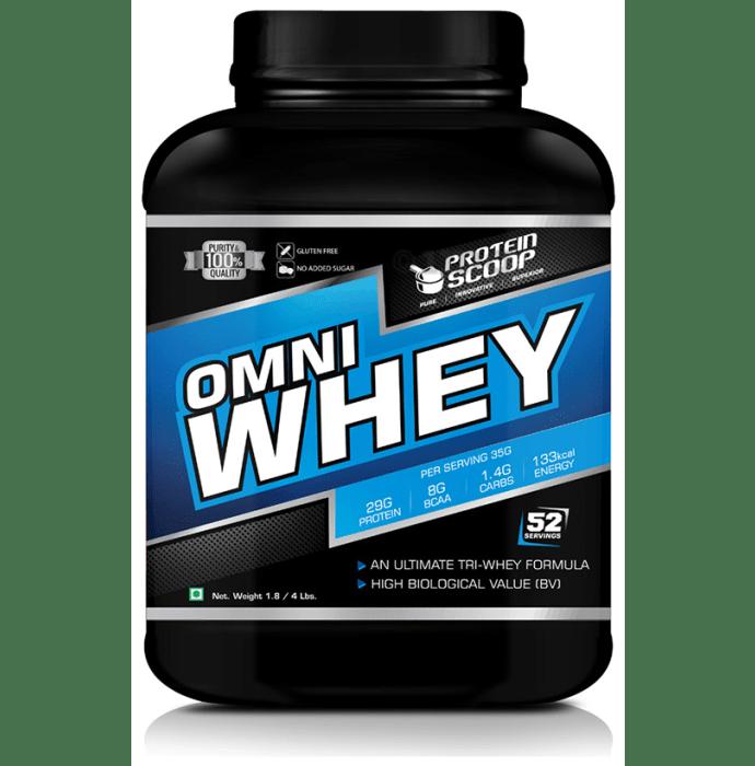Protein Scoop Omni Whey Protein Isolate Powder Vanilla