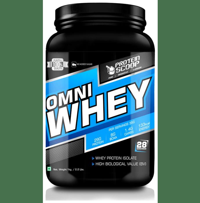 Protein Scoop Omni Whey Protein Isolate Powder Chocolate