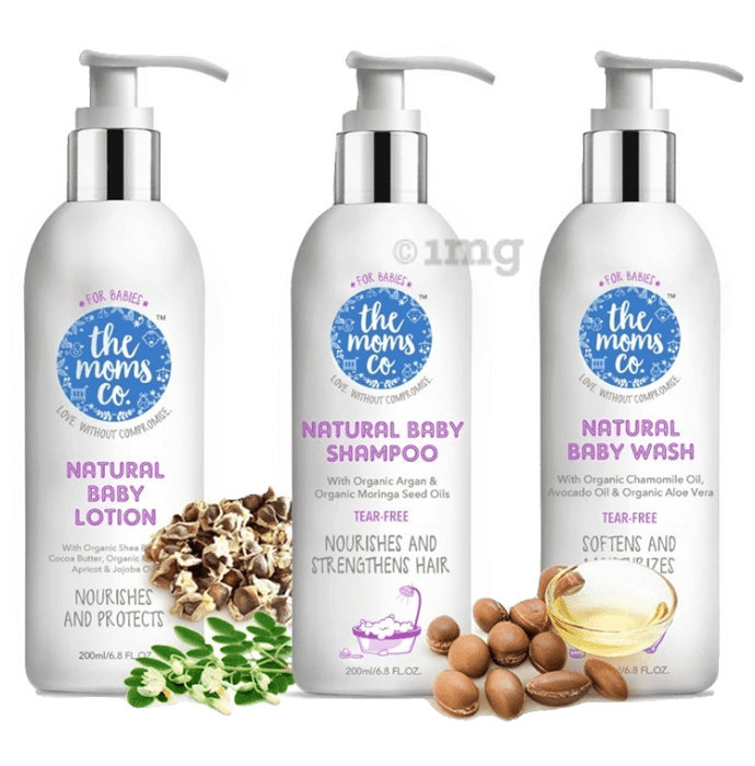 The Moms Co. Baby Skin & Hair Care Bundle