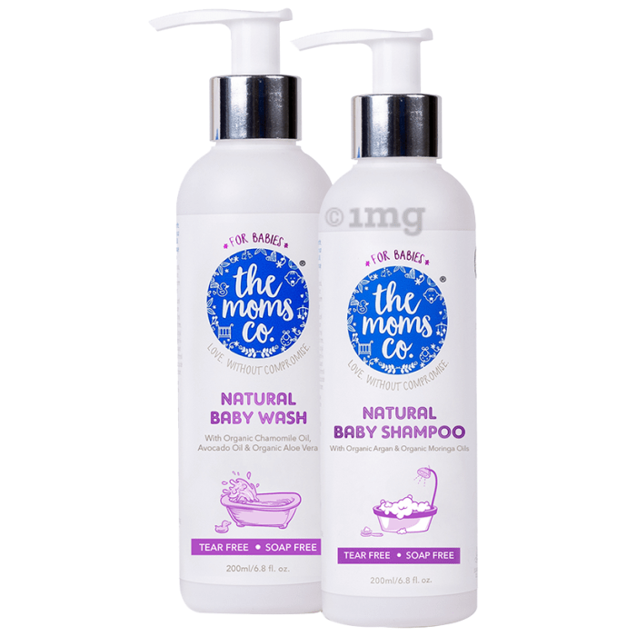 The Moms Co. Natural Tear-Free Cleaning Bundle for Baby