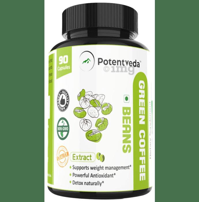 Potentveda Green Coffee Beans Extract 800mg Capsule