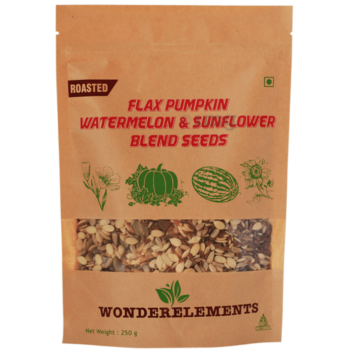 Wonderelements Roasted Flax Pumpkin Watermelon & Sunflower Blend Seeds