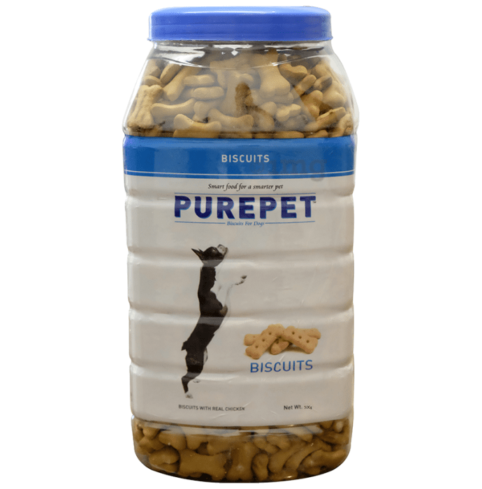 Purepet Real Chicken Biscuit, Dog Treats Milk