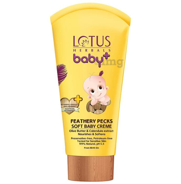 Lotus Herbals Baby+ Feathery Pecks Soft Baby Creme