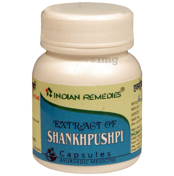 Indian Remedies Extract of Shankhpushpi Capsule
