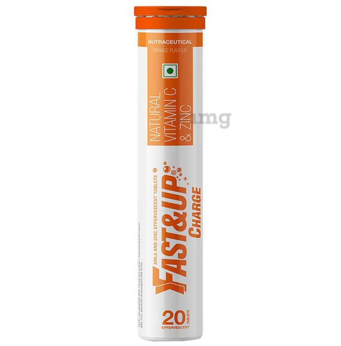 Fast&Up Charge Natural Vitamin C & Zinc Orange Effervescent Tablet