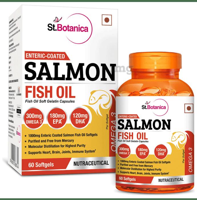 St.Botanica Enteric Coated Salmon Fish Oil with Omega 3 Soft Gelatin Capsule