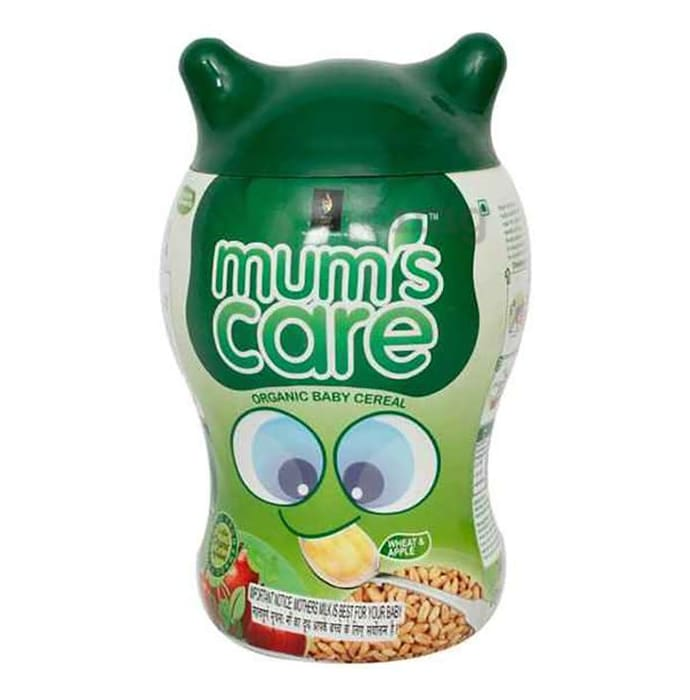 Mum's Care Organic Baby Cereal Wheat Apple