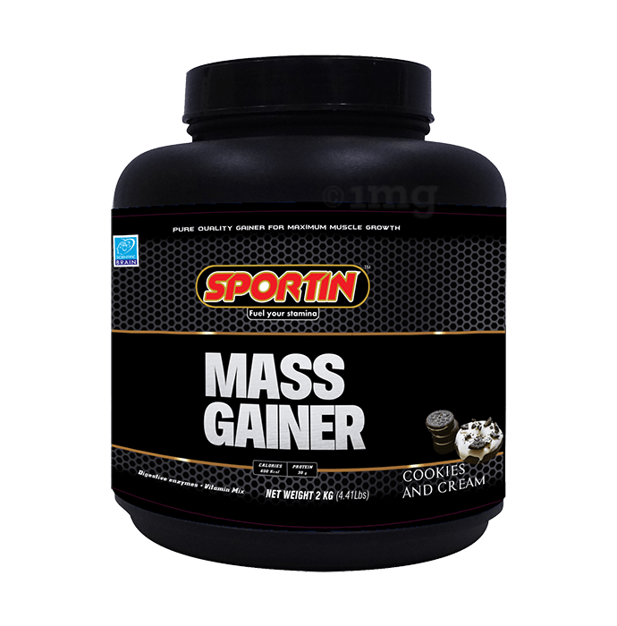 Sportin Mass Gainer Powder Cookies & Cream