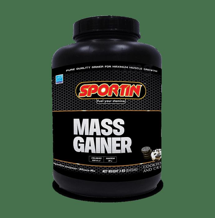 Sportin Mass Gainer Powder Cookies & Cream
