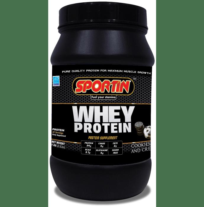 Sportin Whey Protein Powder Cookies & Cream