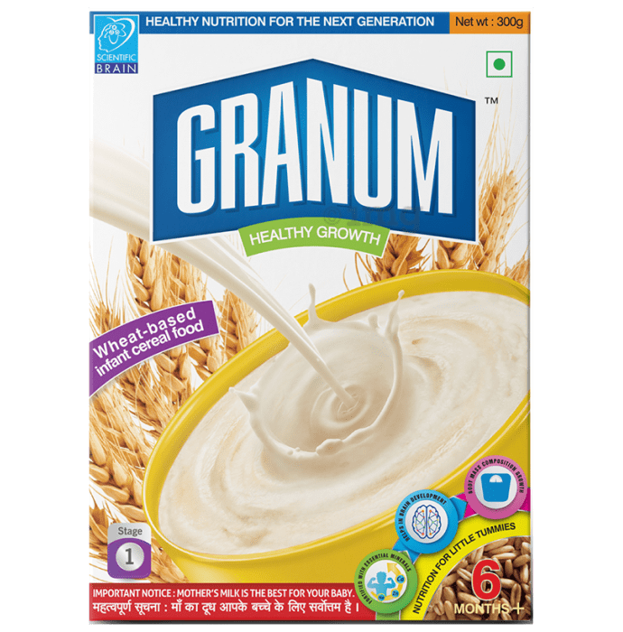 Granum Wheat Based Infant Cereal Food 6 Months Plus