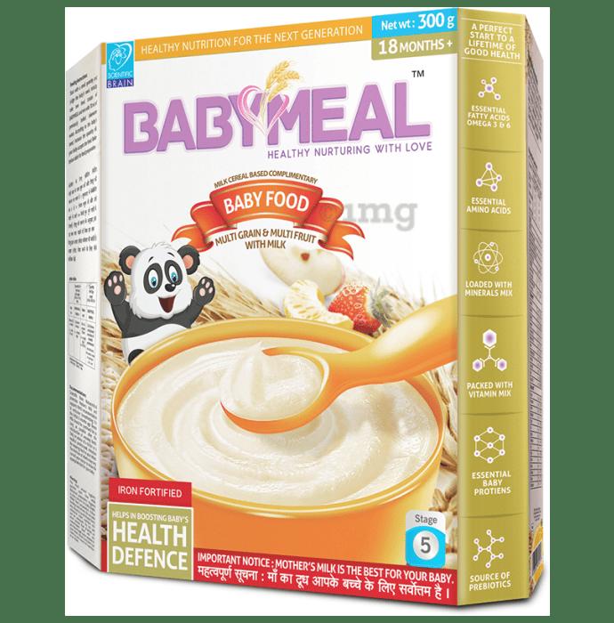 Babymeal Multi Grain Multi Fruit with Milk Baby Food 18 Months +