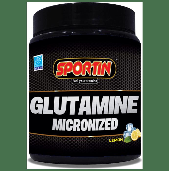 Sportin Glutamine Micronized Powder Lemon