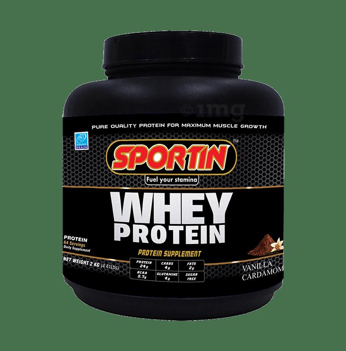 Sportin Whey Protein Powder Vanilla & Cardamom
