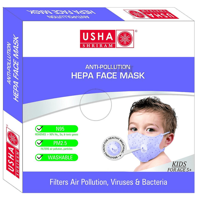 Usha Shriram N95 Anti Pollution HEPA Face Mask for Kids