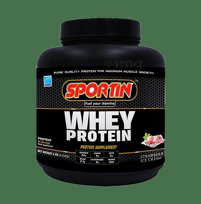 Sportin Whey Protein Powder Strawberry Ice-Cream