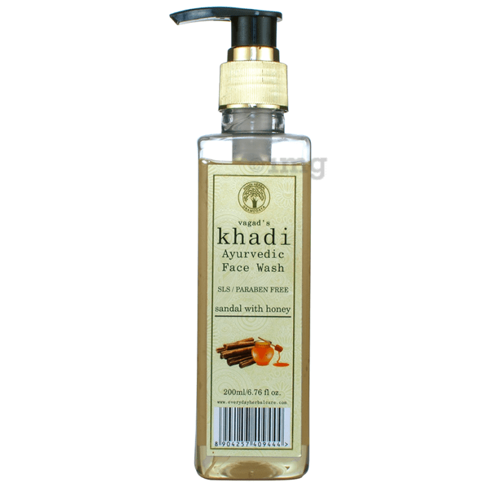 Vagad's Khadi Ayurvedic SLS and Paraben Free Sandal with Honey Face Wash