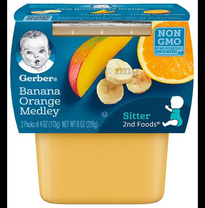 Gerber Sitter 2nd Food (113gm Each) Banana Orange Medley