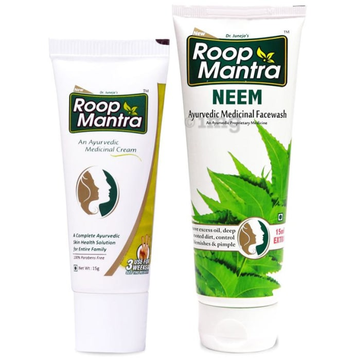 Roop Mantra  Combo Pack of Face Cream 15gm & Neem Face Wash 115ml