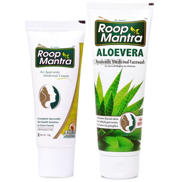 Roop Mantra  Combo Pack of Face Cream 15gm & Aloevera Face Wash 115ml