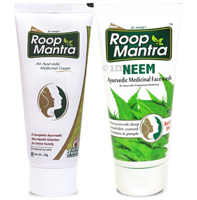 Roop Mantra  Combo Pack of Face Cream 30gm & Neem Face Wash 50ml