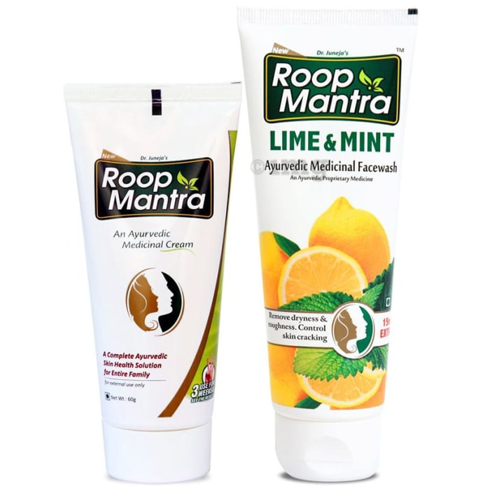 Roop Mantra  Combo Pack of Face Cream 60gm & Lime Mint Face Wash 115ml