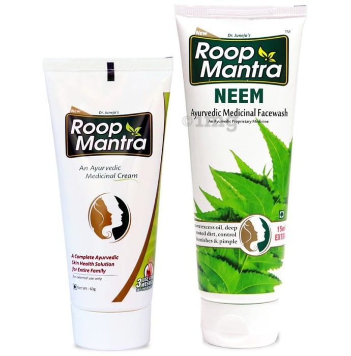 Roop Mantra  Combo Pack of Face Cream 60gm & Neem Face Wash 115ml