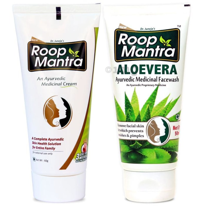 Roop Mantra  Combo Pack of Face Cream 60gm & Aloevera Face Wash 50ml