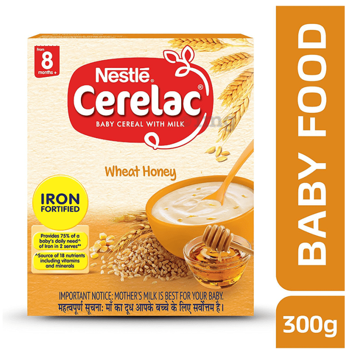 Nestle Cerelac Fortified Baby Cereal with Milk 8 Months+ Wheat Honey