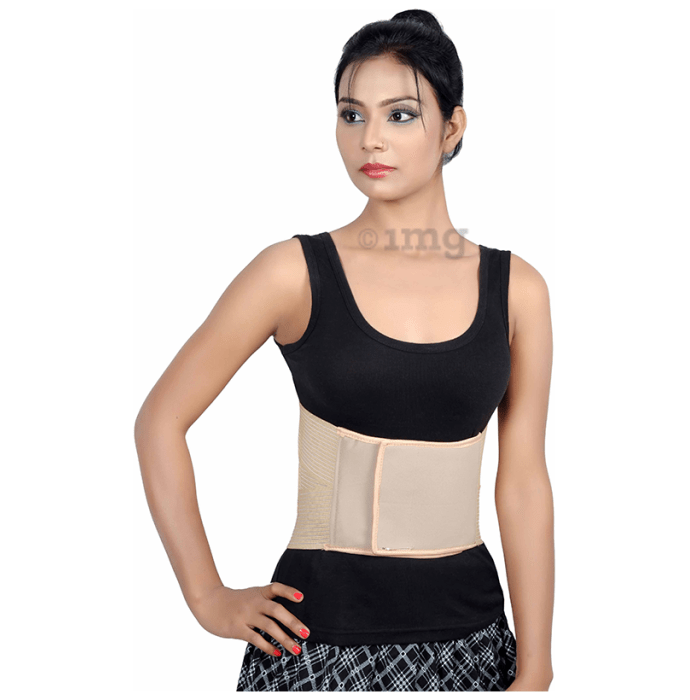 Wonder Care B102 Lumbar Support - Breathable Elastic Back Support XL Beige