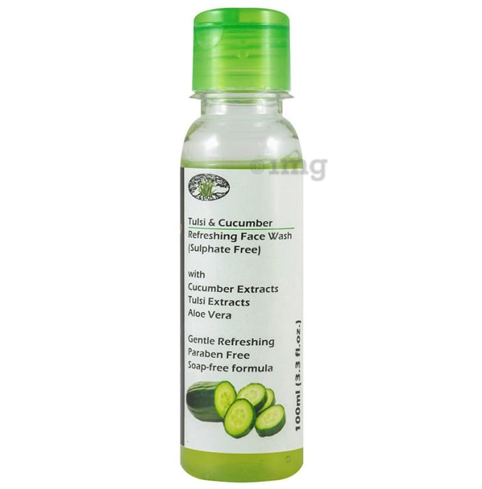 Aloe Veda Tulsi & Cucumber Refreshing Face Wash Sulphate Free