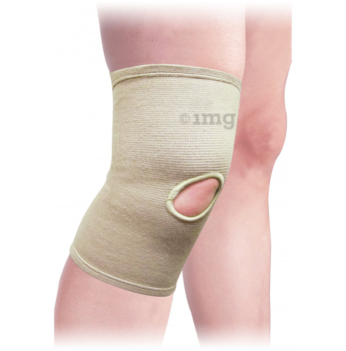 Health Point ES-704 Elastic Knee Open Pattela Large