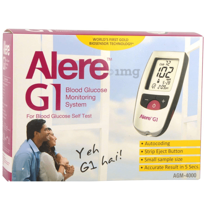 Alere G1 Glucometer with 25 Test Strips Multicolor