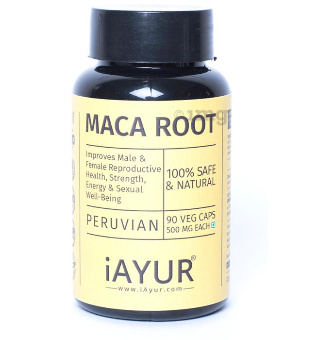 iAYUR Maca Root Extract 500mg Veg Capsule