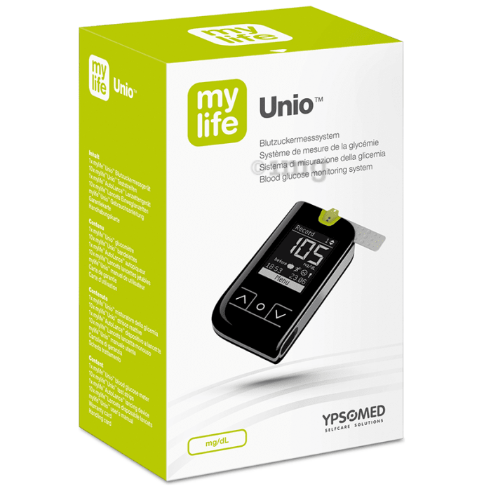 MyLife Unio Blood Glucose Monitor with 10 Strips Free