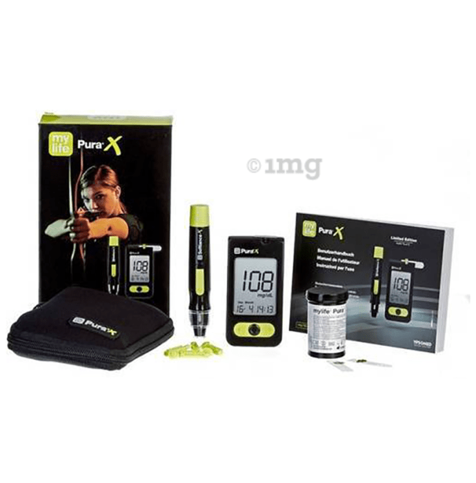 MyLife Pura X Blood Glucose Monitor with 10 Strips Free