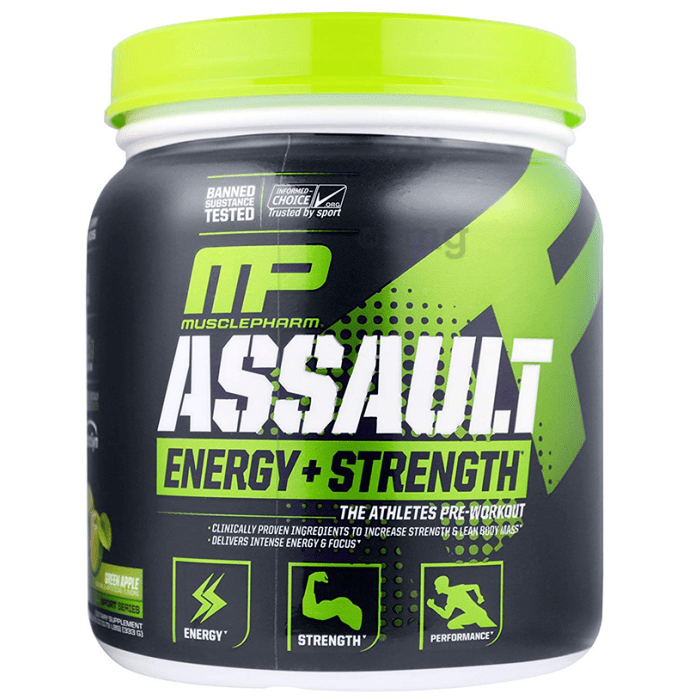 Muscle Pharm Assault Pre-Workout Powder Green Apple