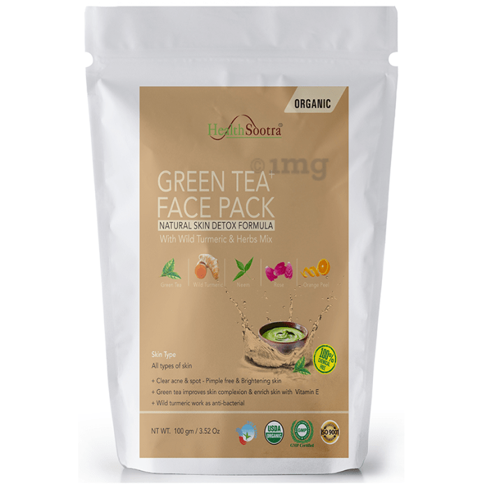 Healthsootra Green Tea  Face Pack