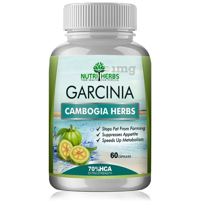 Nutriherbs Garcinia Cambogia Herbs 800mg (70% HCA) Veggie Capsule