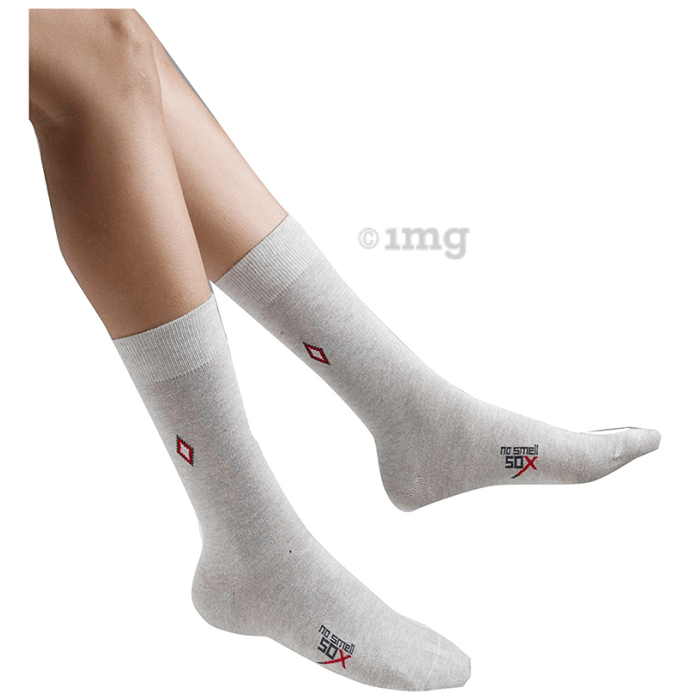 No Smell Sox 2401 Smell Free Socks Universal Natural Silver