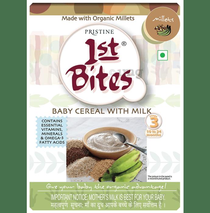 Pristine 1st Bites (10 Months - 24 Months) Stage-3 Baby Cereals with Milk Millets