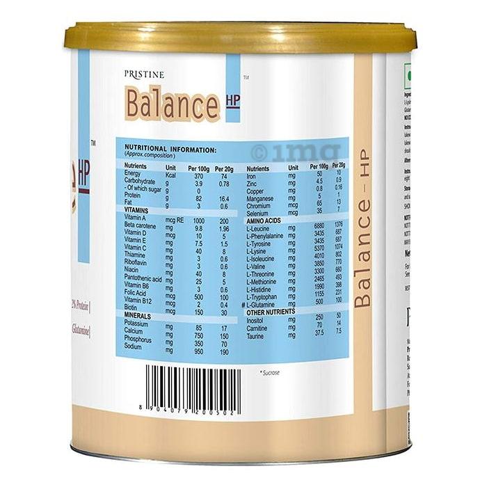 Pristine Balance HP Vanilla Powder