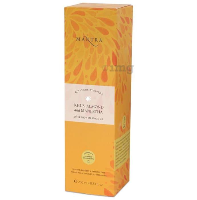 Mantra Khus, Almond and Manjistha Pitta Body Massage Oil