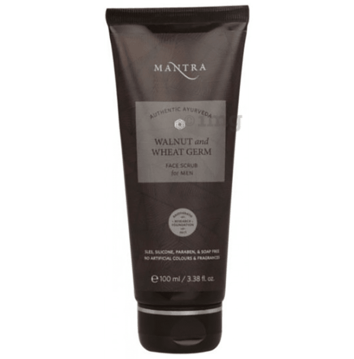 Mantra Walnut and Wheat Germ Face Scrub for Men