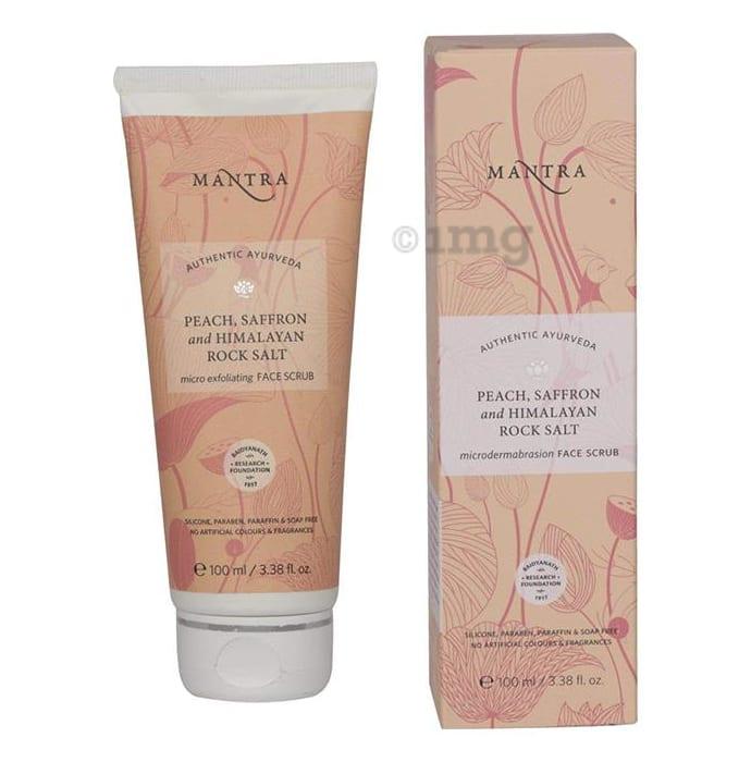 Mantra Peach , Saffron and Himalayan Rock Salt Micro Exfoliating Face Scrub