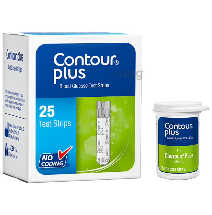 Contour Plus Blood Glucose Test Strip