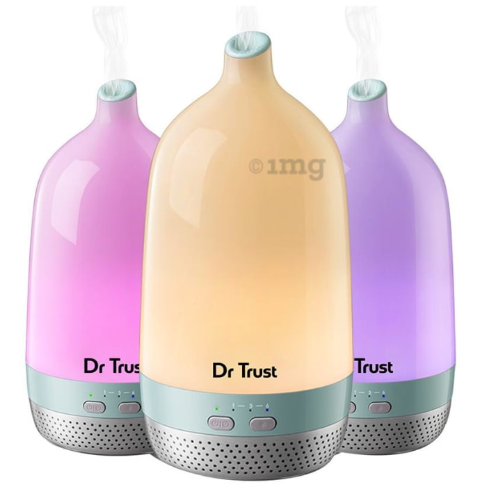 Dr Trust USA Home Spa Luxury Home Office Cool Mist Aroma Oil Diffuser and Humidifier 200ml Multicolor